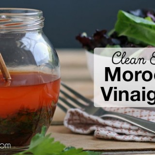 This clean eating Moroccan Vinaigrette is on our table with every meal! It's easy to whip up in a pinch and goes with just about anything needing a refreshing dressing – salads, beans, quinoa, you name it!