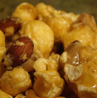 Caramel Nut Buttery Popcorn with Nuts