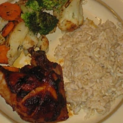Easy Oven Barbecued Chicken