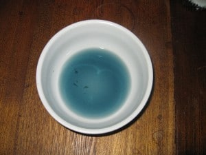 Blue color for dying Easter eggs