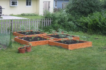 Raised Bed Gardens made from cedar