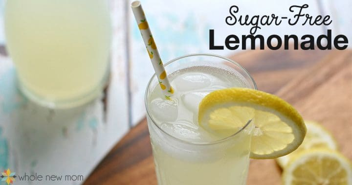 Sugar-free Lemonade in a glass