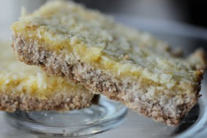 Sugar and Gluten Free Lemon Coconut Bars