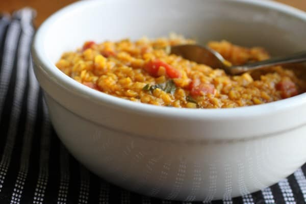 Indian Lentil Curry in a Bowl