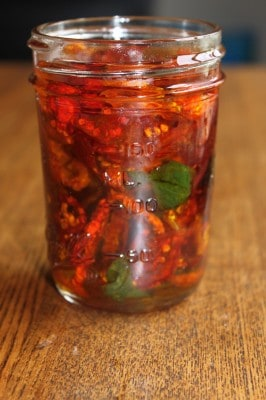 Homemade Sun-Dried Tomatoes Basil