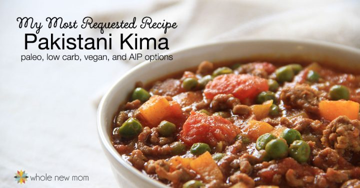 Pakistani Kima - ground beef curry - in white bowl