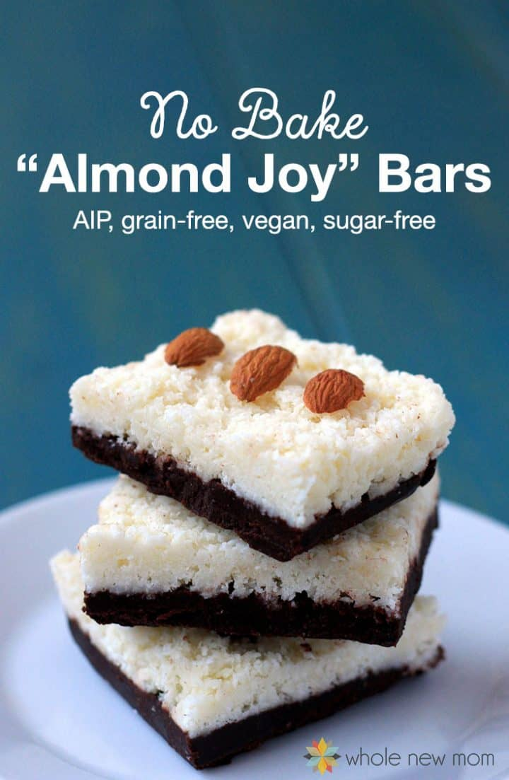 no bake Almond Joy® Bars on white plate