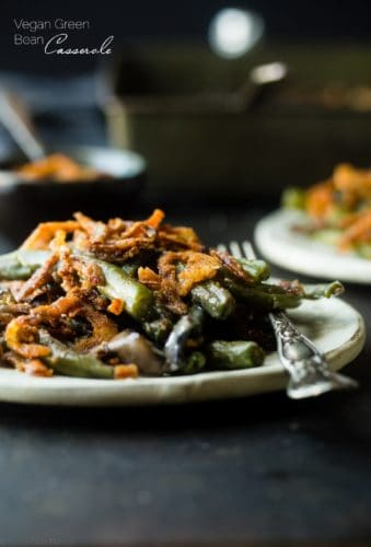 Healthy Vegan Green Bean Casserole