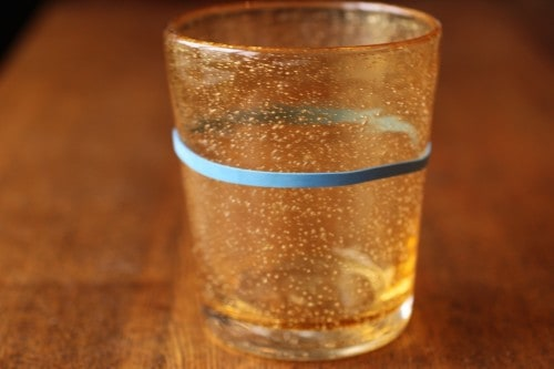Blue Rubberband Water Glasses