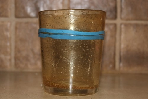 rubberband water glasses