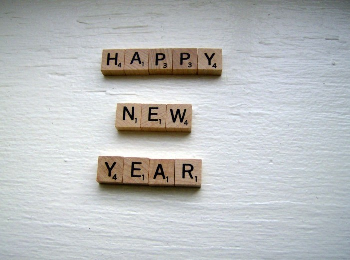 Happy New Year Scrabble Tiles