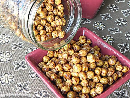 These crispy sweet garbanzo beans