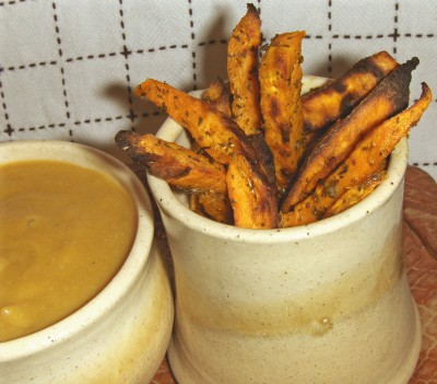 These sweet potato fries would be great for the super bowl.