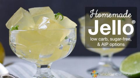 Homemade Jello - Sugar Free with Low Carb Option. Ditch the overpriced packets of sugar and artificial flavor and colors and make this easy healthy treat instead!