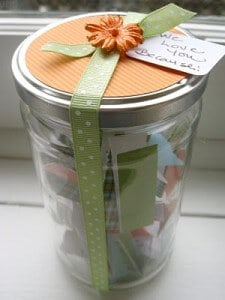 Homemade Mother's Day Gift in a Jar Easy