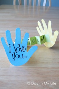 Mother's day gift paper hands I Love you
