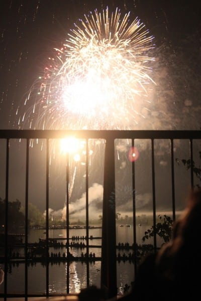 Fireworks over Lake