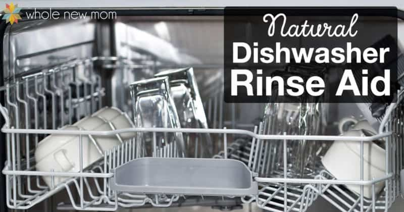 glasses and mugs in top rack of dishwasher using natural dishwasher rinse aid