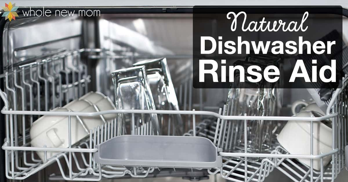 Avoid both water spots and harmful chemicals by making this DIY super simple & natural dishwasher rinse aid! Plus instructions on how to properly use it in your dishwasher.