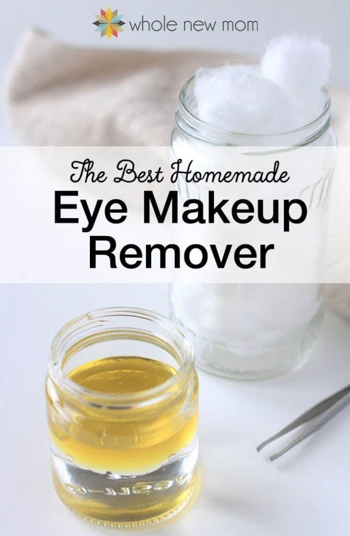 I tried a bunch of Homemade Eye Makeup Removers and this one worked the best – now improved even more! Ditch the toxins, save money, and make it yourself!