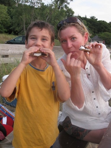 eating grain free S'mores with Narelle Chenery
