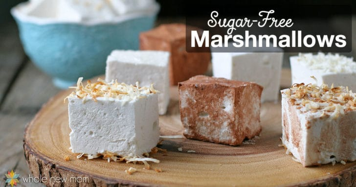 Homemade Marshmallows – with sugar-free option