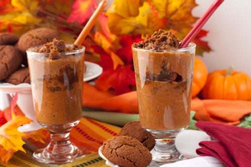 Pumpkin Gingersnap Chia Breakfast Parfait