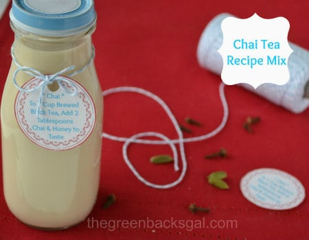 Chai Tea Mix in a Jar
