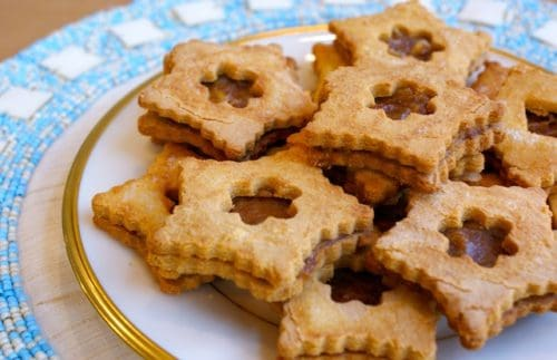 Coconut Date Linzer Cookies