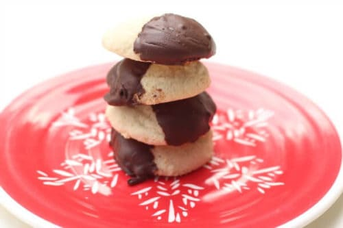 Gluten-Free Peppermint Shortbread Cookies