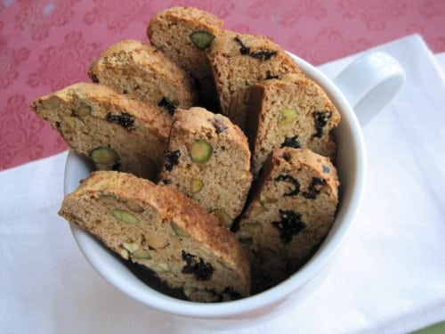 Gluten-Free Pistachio Cranberry Biscotti