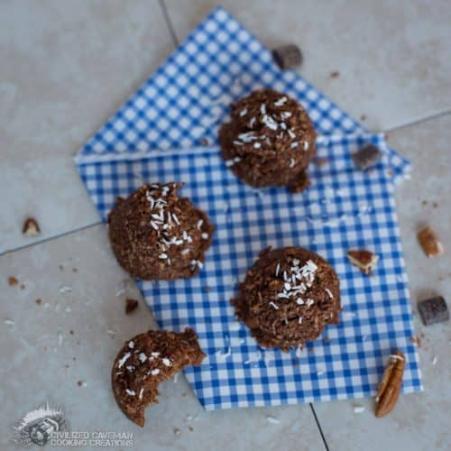 Raw Chocolate Pumpkin Pecan Macaroons
