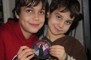 Boys with Truth in Tinsel Light Ornament