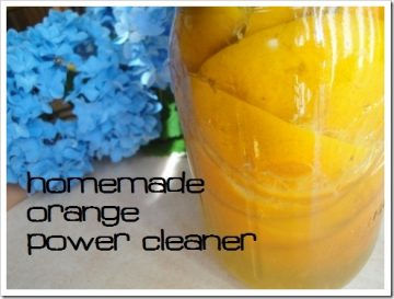 homemade Orange Oil Cleaner