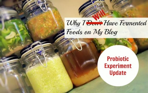 Why I WILL Have Fermented Foods on My Blog – Probiotic Experiment Update