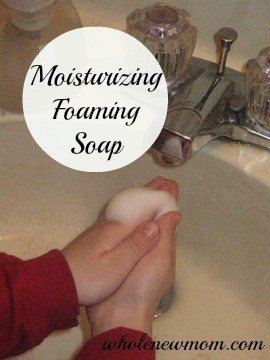 This Moisturizing Foaming Soap is super easy to make. Stop buying expensive pumps and refills and do it yourself!
