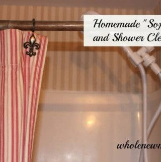 """Make this Homemade """"Soft Scrub"""" or Homemade Shower Cleaner and ditch the expensive stuff that's filled with chemical nasties."""