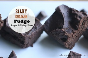 Silky Smooth Fudge made with--BEANS! And it's dairy and sugar-free too. A great way to get beans into your diet and it's a great no-bake treat for warmer months too.