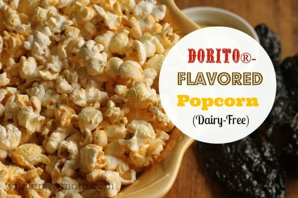 Dorito® - Flavored Popcorn -- dairy-free! You can satisfy your craving for Doritos® while staying away from the chemical nasties and artificial colors!