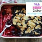 This Berry Cobbler is gluten, sugar, and dairy-free with egg-free option. A great one dish dessert! Other fruits, or even rhubarb would be great options as well!