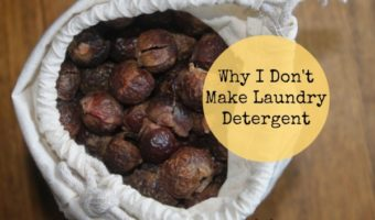 """I love making DIY Home Products, but one thing I DON""""T make is laundry detergent. Find out why and find out why I LOVE soap nuts and read my soap nuts review."""