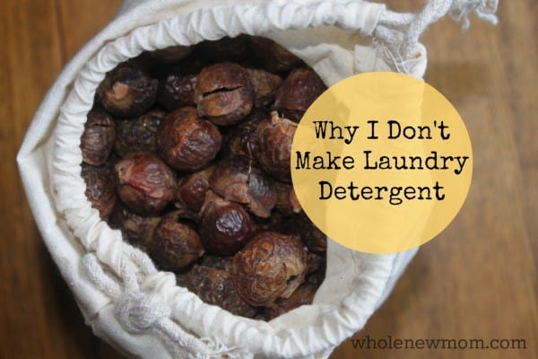 "I love making DIY Home Products, but one thing I DON""T make is laundry detergent. Find out why and find out why I LOVE soap nuts and read my soap nuts review."