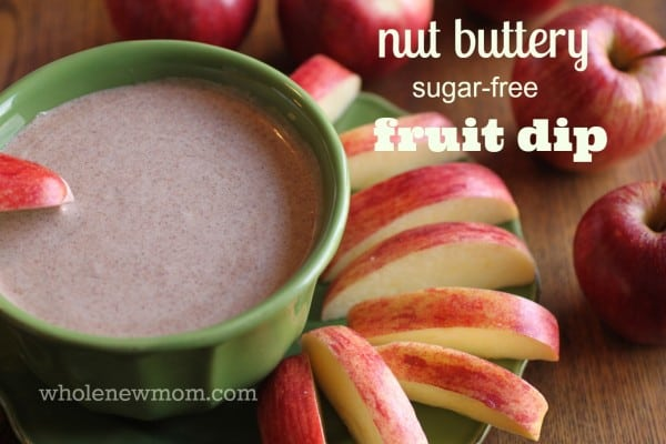 This Nut Butter Fruit Dip is a great alternative to HCFS-laden caramel dips. It's dairy and sugar free too!