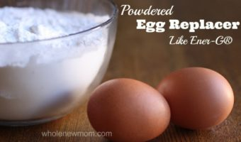 This Powdered Egg-Replacer is great for those with egg allergies--but also for times when you've just run out of eggs. It has a long shelf life and is easy to use in most baked good recipes.