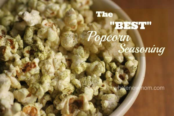 This popcorn seasoning recipe is all natural and totally addictive. Everywhere we take it someone asks us for the recipe - so glad I made the mistake I did to come up with this best popcorn recipe!