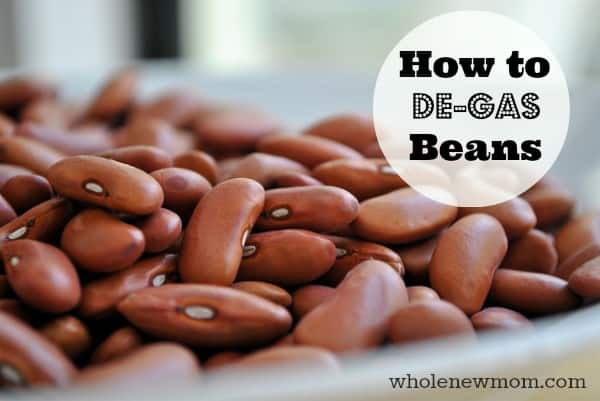 What is the way to remove gas from pinto beans?