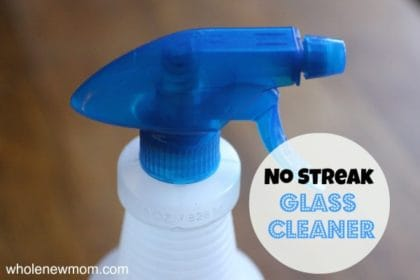 Trying to make your own home care products to save money and get the toxins out of your home? This No-Streak Homemade Window Cleaner works great and costs pennies to make. I love not using that blue-dyed stuff - better for you and better for the earth - better for your pocketbook.