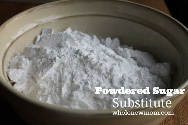 Powdered Sugar Substitute. Great for if you can't have sugar, or for when you run out of powdered sugar while baking. Here's how you can make your own Powdered Sugar in a pinch!
