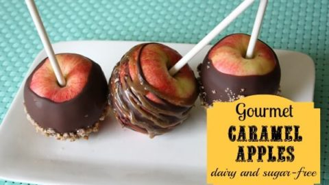Caramel Apples - Dairy and Sugar Free! Now you can recreate those yummy gooey-sweet-covered fall delicacies in your own home!!!