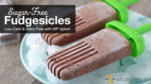 Sugar-free Fudgesicles | Dairy-free Fudgesicles